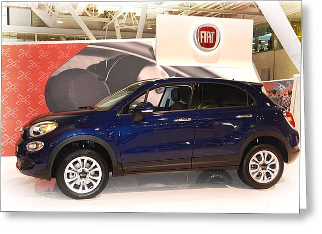 Boston Ma Greeting Cards - 2016 Fiat 500X Greeting Card by Mike Martin
