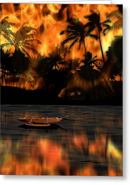 Canoe Photographs Greeting Cards - 2067 Greeting Card by Peter Holme III