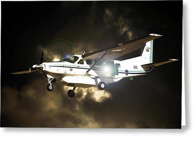 Cessna Greeting Cards - 208 Light Greeting Card by Paul Job