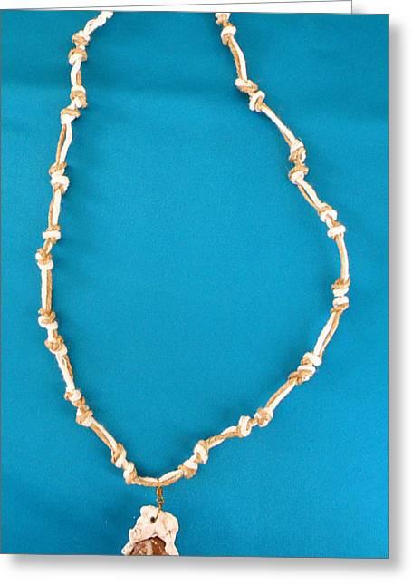 Jewelry Jewelry Greeting Cards - Aphrodite Gamelioi Necklace Greeting Card by Augusta Stylianou