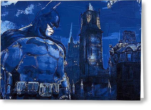 Batman Mixed Media Greeting Cards - Batman Arkham Greeting Card by Victor Gladkiy