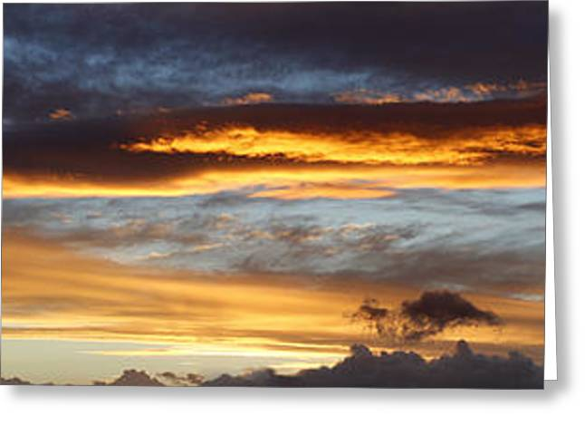 Peaceful Scenery Greeting Cards - Bright sky  Greeting Card by Les Cunliffe