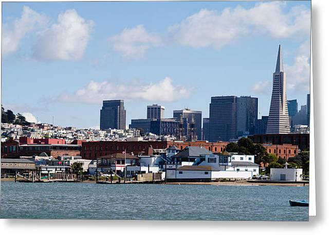 California Ocean Photography Greeting Cards - Buildings At The Waterfront Greeting Card by Panoramic Images