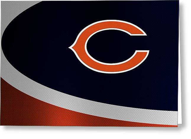 Offense Greeting Cards - Chicago Bears Greeting Card by Joe Hamilton
