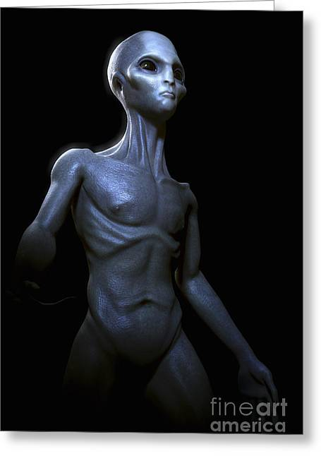 Three-quarter Length Greeting Cards - Extraterrestrial Life Greeting Card by Science Picture Co