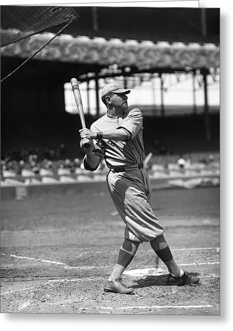 Boston Red Greeting Cards - George H. Babe Ruth Greeting Card by Retro Images Archive