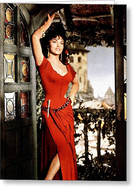 Lollobrigida Greeting Cards - Gina Lollobrigida Greeting Card by Silver Screen