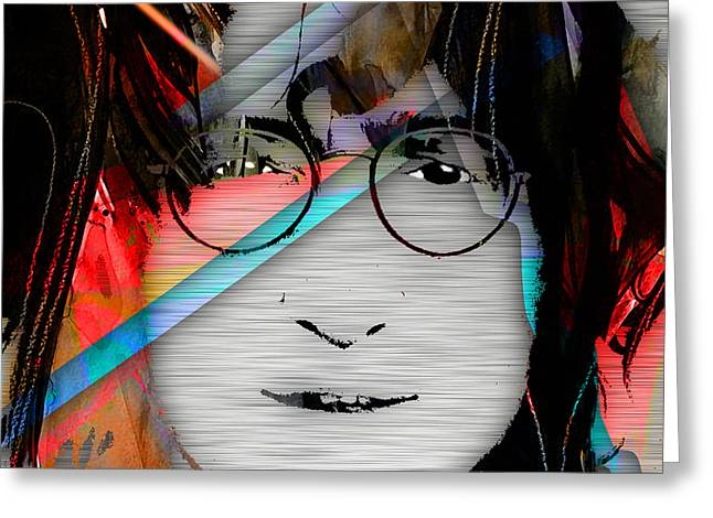 John Greeting Cards - John Lennon Collection Greeting Card by Marvin Blaine
