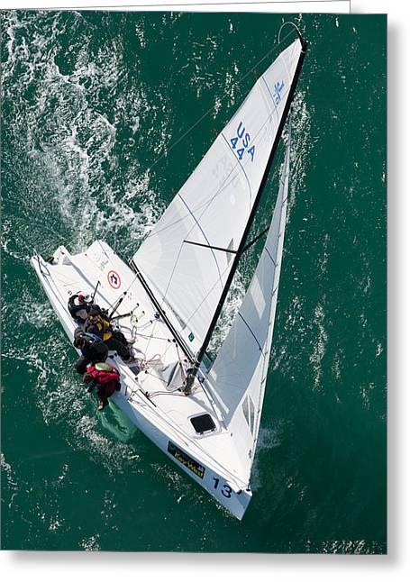 Ocean Sailing Greeting Cards - Key West Race Week Greeting Card by Steven Lapkin