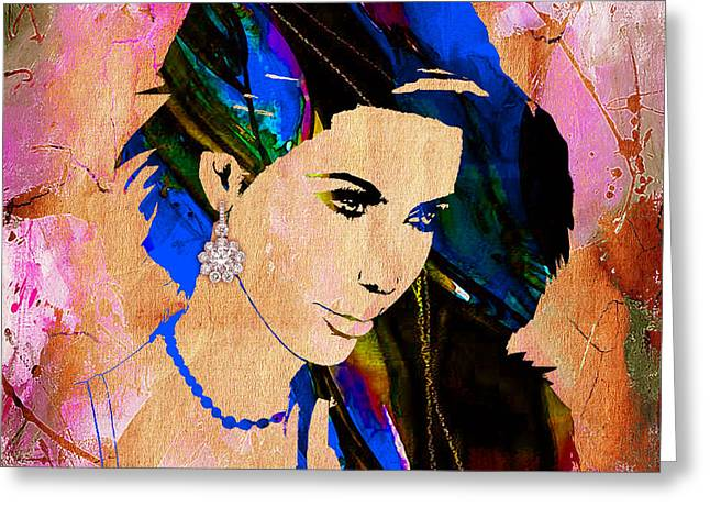 Kim Kardashian Greeting Cards - Kim Kardashian Collection Greeting Card by Marvin Blaine