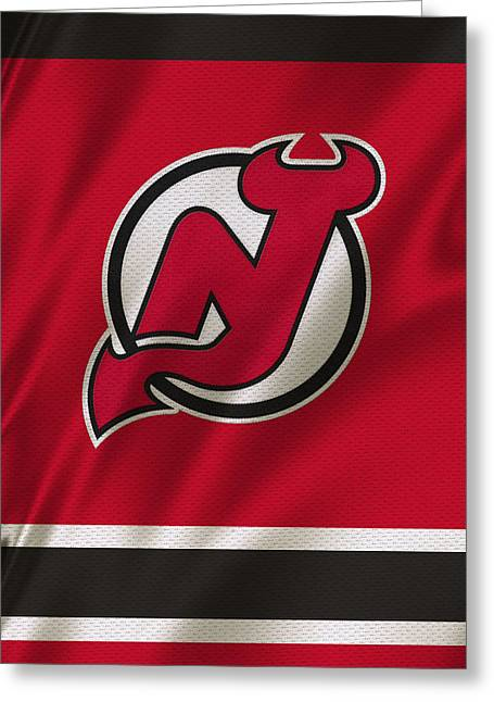 New Jersey Devils Greeting Card by Joe Hamilton