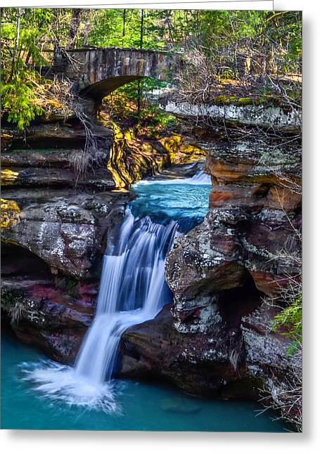 Babbling Greeting Cards - Old Mans Cave Greeting Card by Brian Stevens