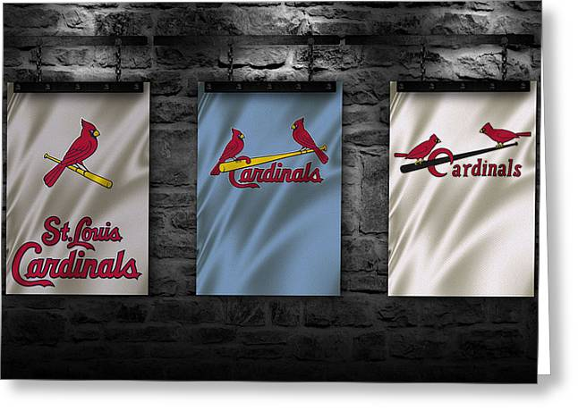 St.louis Cardinals Greeting Cards - St Louis Cardinals Greeting Card by Joe Hamilton