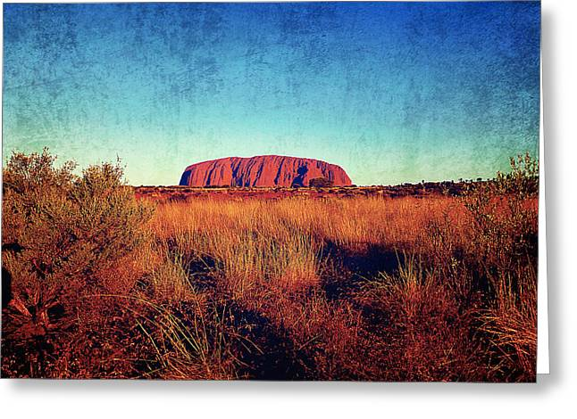 Greeting Card Greeting Cards - Uluru Greeting Card by Girish J
