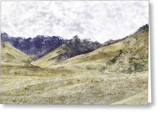 Tourists Pastels Greeting Cards - Von River Valley Greeting Card by Tim Mulholland