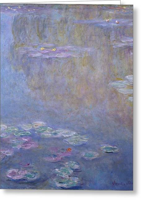 Worcester Art Museum Greeting Cards - Water Lilies Greeting Card by Claude Monet