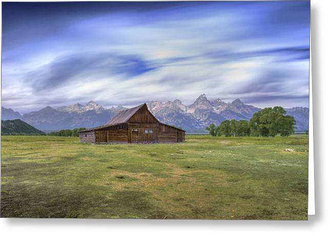 Western Ma Greeting Cards - 210 seconds of Mormon Row Greeting Card by Marco Crupi