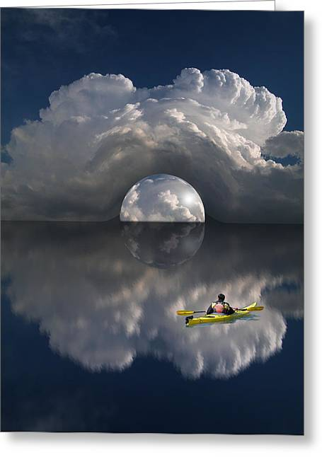 Kayak Greeting Cards - 2114 Greeting Card by Peter Holme III