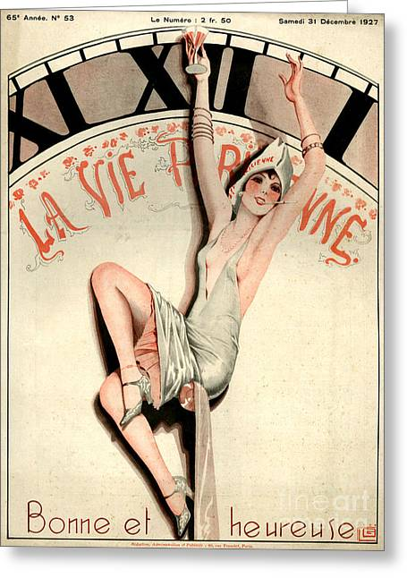 1920s Drawings Greeting Cards - 1920s France La Vie Parisienne Magazine Greeting Card by The Advertising Archives