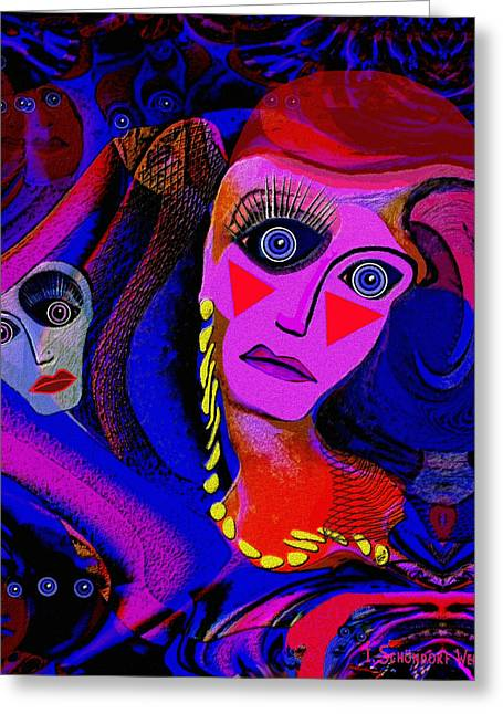 Hairdo Greeting Cards - 213 -  Painted  Lady .... Greeting Card by Irmgard Schoendorf Welch