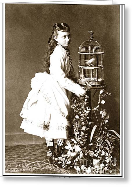 Grand Duchess Elizabeth Greeting Cards - 213. Princess Elizabeth of Hesse 1874  Print Greeting Card by Royal Portraits