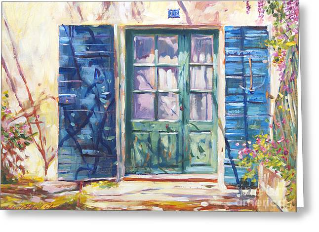213 Rue De Provence Greeting Card by David Lloyd Glover