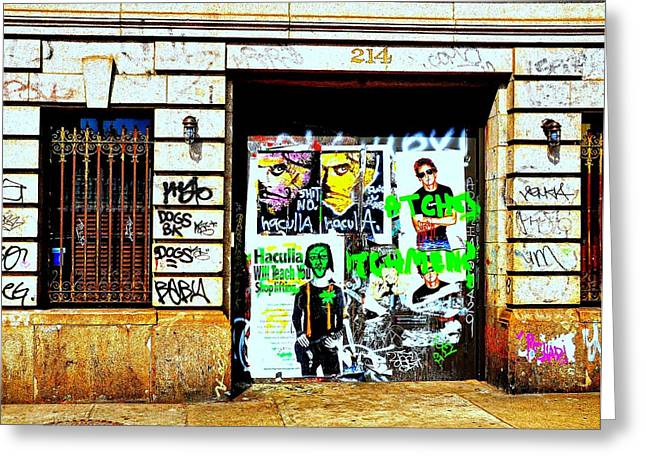 New York City Graffiti Greeting Cards - 214 Greeting Card by Diana Angstadt