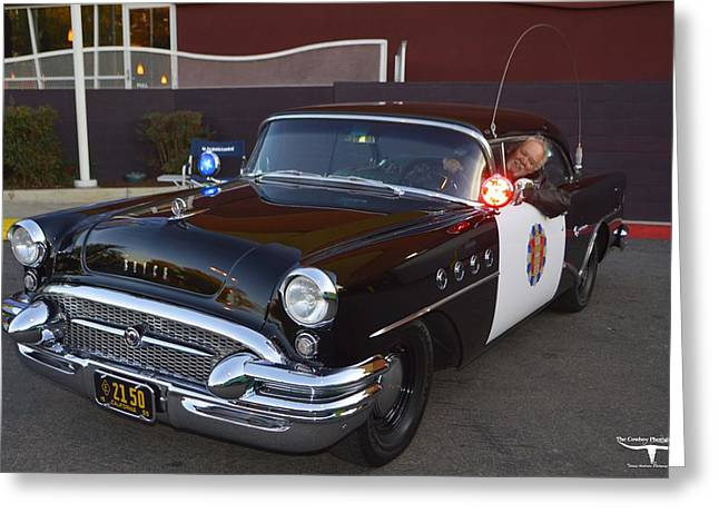 Police Cruiser Greeting Cards - 2150 to Headquarters Greeting Card by Tommy Anderson