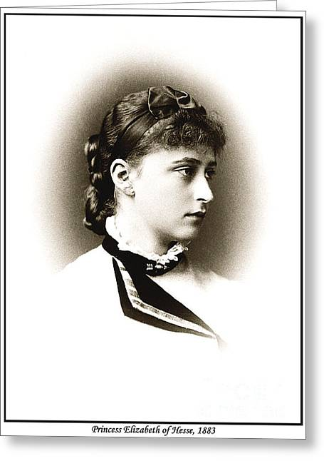 Grand Duchess Elizabeth Greeting Cards - 216. Princess Elizabeth of Hesse 1883 Print Greeting Card by Royal Portraits