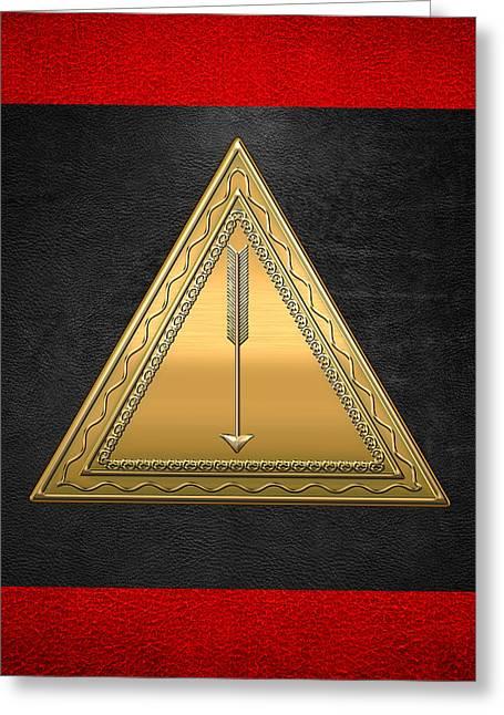 21st Greeting Cards - 21st Degree Mason - Noachite or Prussian Knight Masonic  Greeting Card by Serge Averbukh