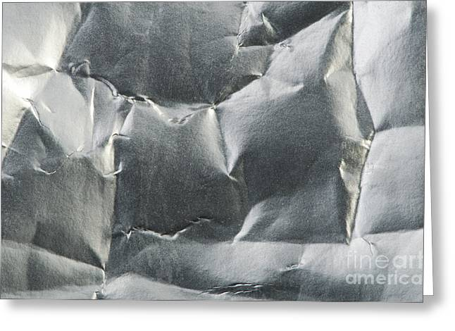 Rumpled Greeting Cards - Background of old crumpled paper Greeting Card by Deyan Georgiev