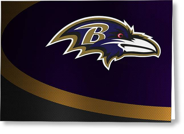Offense Greeting Cards - Baltimore Ravens Greeting Card by Joe Hamilton