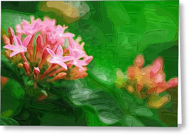 Close Up Paintings Greeting Cards - beautiful Paintings Of Flowers Greeting Card by Victor Gladkiy