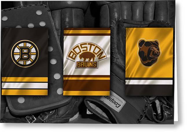 Boston Bruins Greeting Card by Joe Hamilton