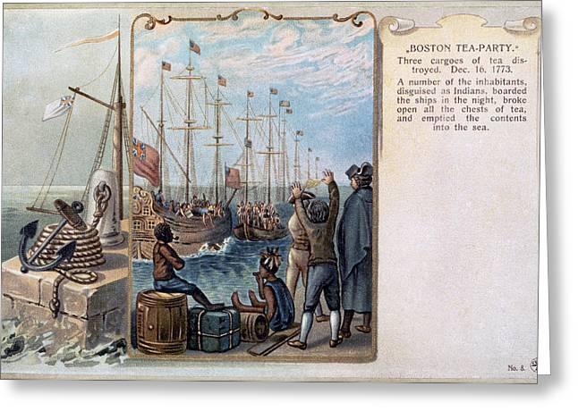 Protest Greeting Cards - Boston Tea Party, 1773 Greeting Card by Granger