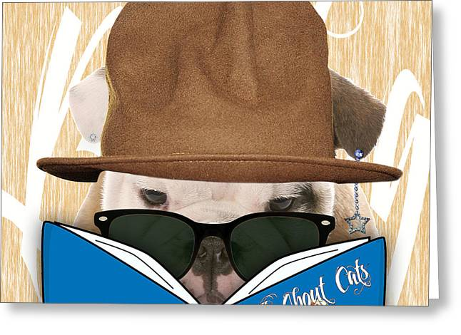 Pop Mixed Media Greeting Cards - Bulldog Collection Greeting Card by Marvin Blaine