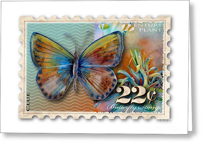 22 Cent Butterfly Stamp Greeting Card by Amy Kirkpatrick