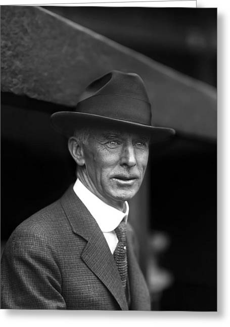Dugout Greeting Cards - Cornelius Connie Mack Greeting Card by Retro Images Archive