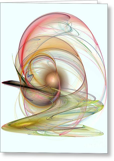 Geometric Style Greeting Cards - Elegant Abstract Background Greeting Card by Odon Czintos