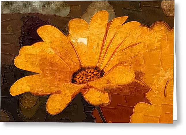 Close Up Paintings Greeting Cards - Painting Flowers pictures Greeting Card by Victor Gladkiy