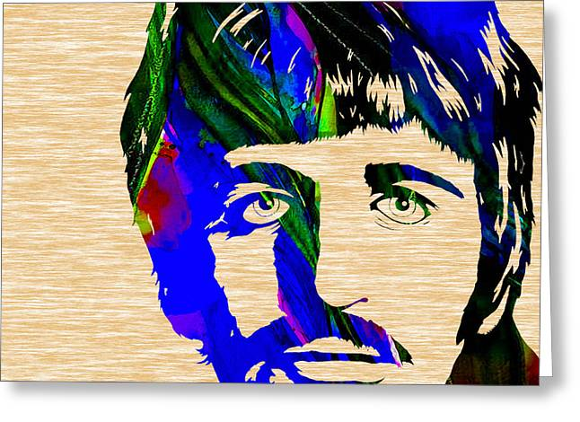 Starr Greeting Cards - Ringo Starr Collection Greeting Card by Marvin Blaine