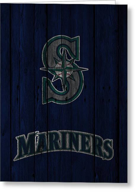 Stadium Greeting Cards - Seattle Mariners Greeting Card by Joe Hamilton