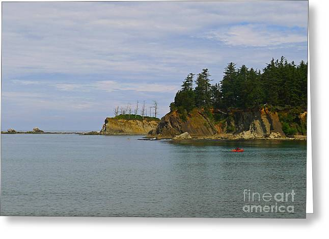 Best Sellers -  - State Parks In Oregon Greeting Cards - Sunset Bay State Park Greeting Card by Gail Peters