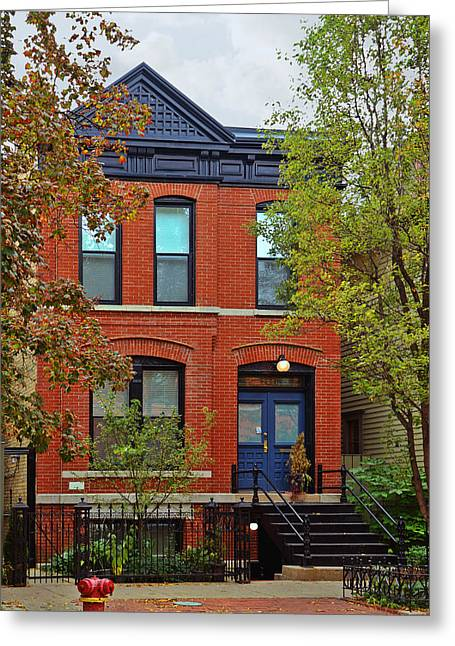 Houses Greeting Cards - 22 W Eugenie St Old Town Chicago Greeting Card by Christine Till