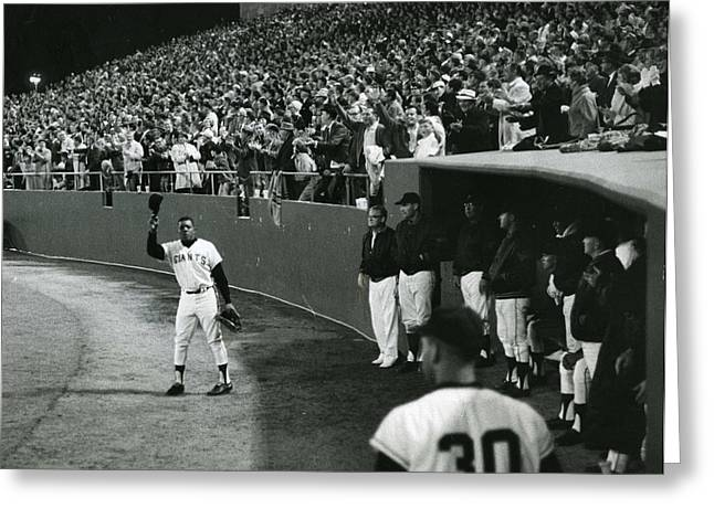 San Francisco Images Greeting Cards - Willie Mays Greeting Card by Retro Images Archive