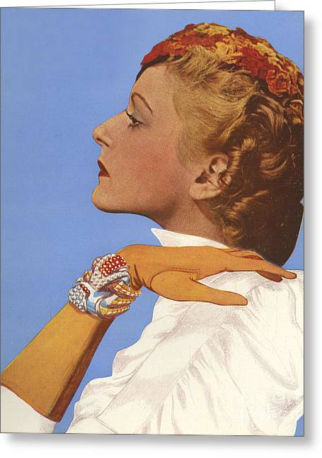 Women�s Fashion 1930s 1939 1930s Uk Greeting Card by The Advertising Archives