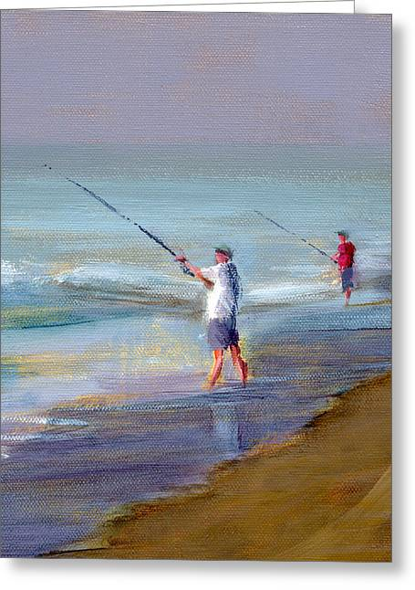 Beach Art Greeting Cards - RCNpaintings.com Greeting Card by Chris N Rohrbach