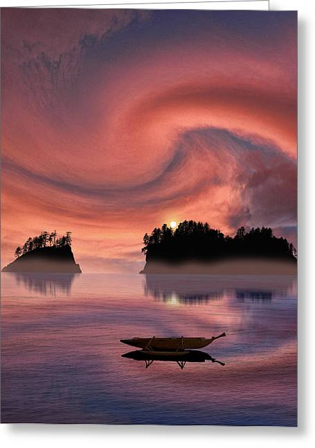 Canoe Greeting Cards - 2207 Greeting Card by Peter Holme III