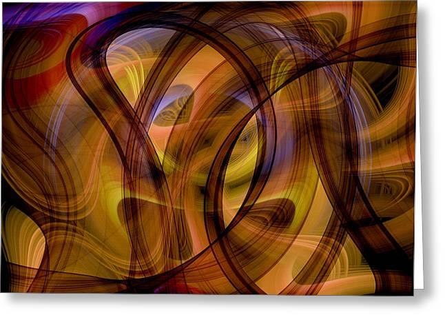 Geometric Image Greeting Cards - Abstract  Greeting Card by GP Images