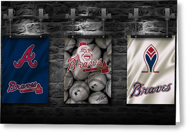Braves Greeting Cards - Atlanta Braves Greeting Card by Joe Hamilton